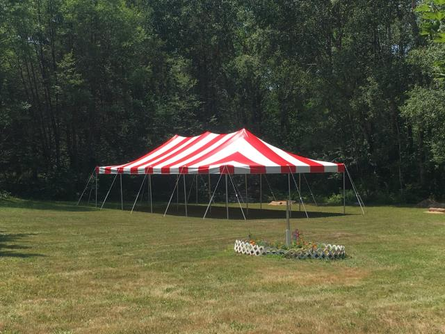 Where to find 20 X 40 CANOPY TENT RED in Grant